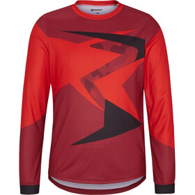 Ziener Namak Longsleeve Jersey Boys, red pepper